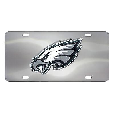NFL - Philadelphia Eagles Stainless Steel Diecast License Plate Eagles Stainless Steel Plate