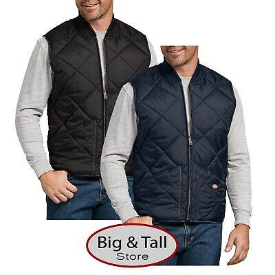 Big & Tall Men's Dickies Full Zip Quilted Nylon VEST 3XL - 5XL 2XLT 3XLT -