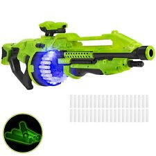 BCP Electric Foam Dart Alien Blaster Toy w/ 40 Glow-in-the-Dark Darts