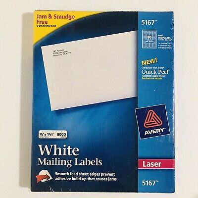 Avery Easy Peel Return Address Labels 12 X 1.75 - Box Of 8000 Laser 5167