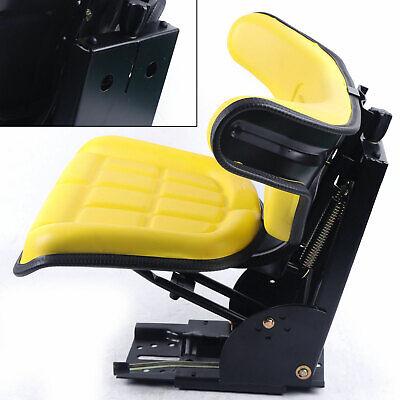 Mower Tractor Seat W Backrest Fits John Deere 2120 2240 2320 2750 Vinyl Yellow
