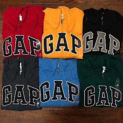 Arched Logo Zip - Gap Hoodie Men's Zip Sweatshirt Fleece Arch Logo Jacket S M L XL XXL