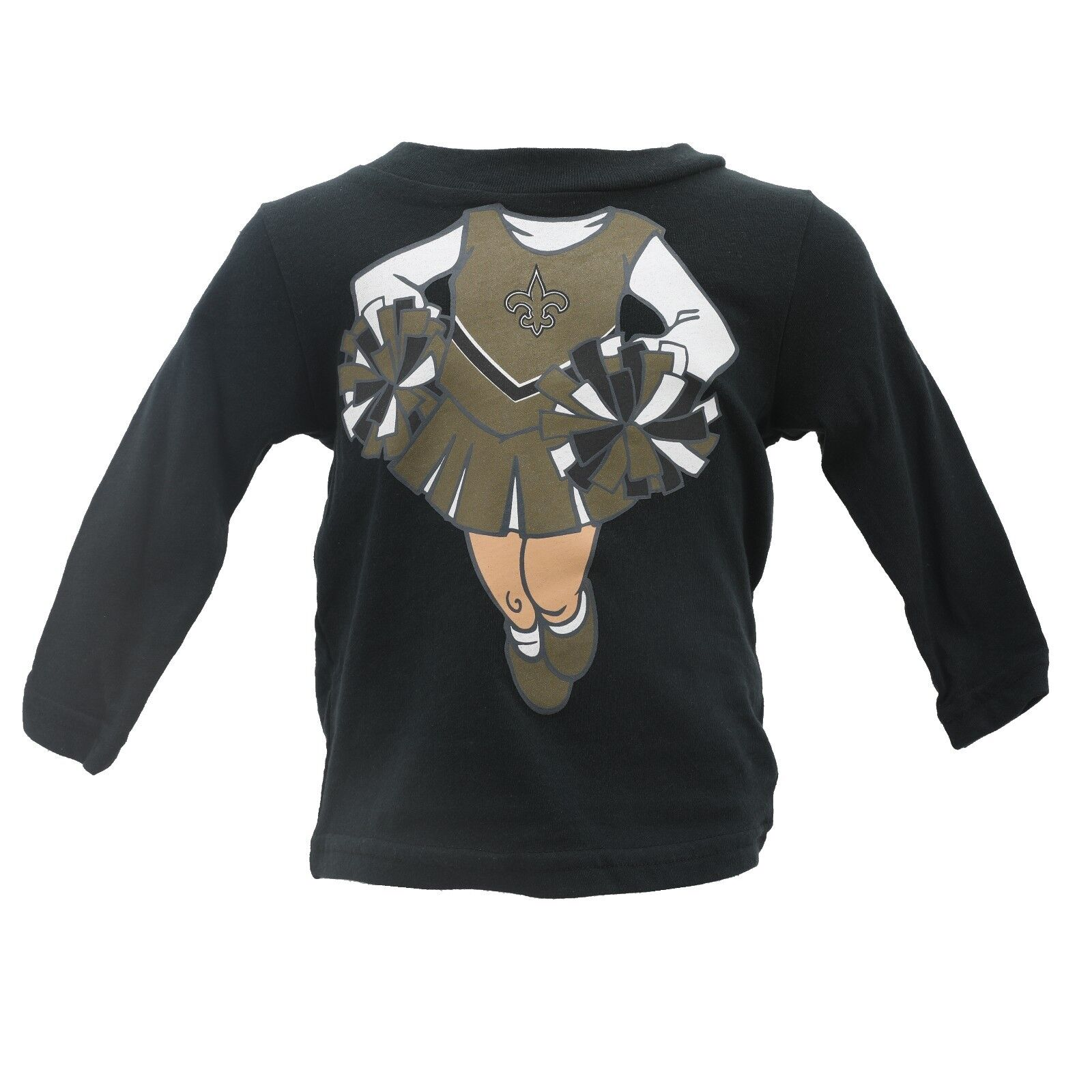 online store b0779 0eb5f Details about New Orleans Saints NFL Official Infant Girls Long Sleeve  Shirt New with Tags