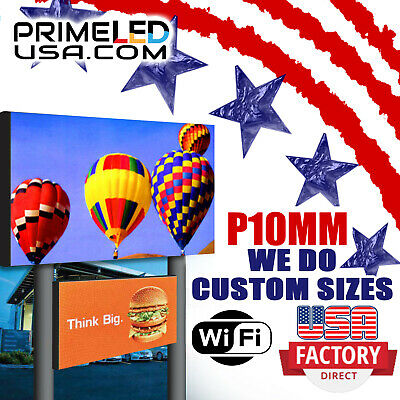 Full Color Led Digital Sign 10mm Hd Size 3ft. X 6ft Outdoor Text Photo Video
