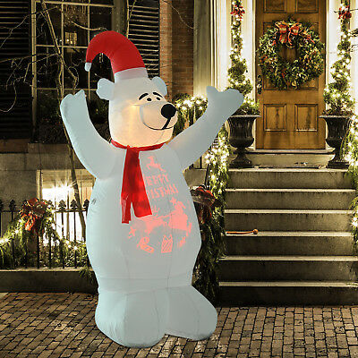6' Inflatable Bear Yelling Airblown Holiday Yard Outdoor Christmas Decorations