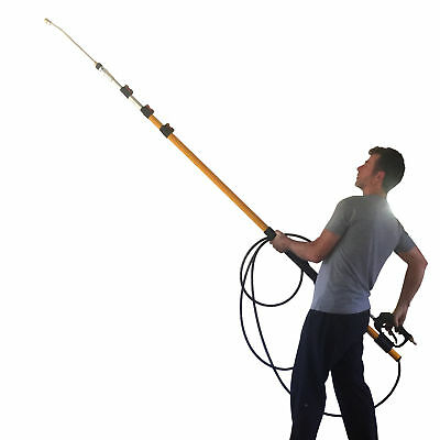 18 Foot Reach Gutter Cleaning Kit for Pressure Washers - Telescopic Lance