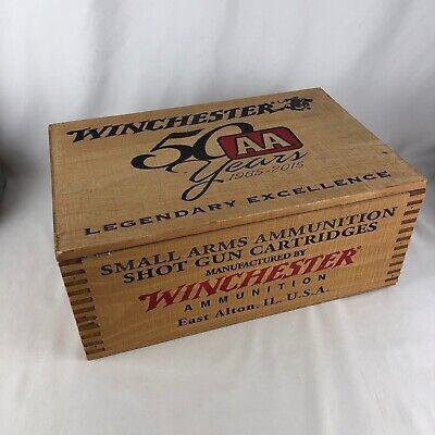 "Winchester 50th Years Anniversary AA Wood Ammo Box 14.5"" x 10"""