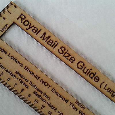 Royal Mail PPI Letter Size Guide Post Office Postal Price Postage Ruler Ruler