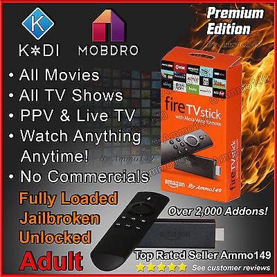 AMAZON FIRE TV STICK 2nd Gen *** Adult *** K 17.3 TV, Movies, Sports