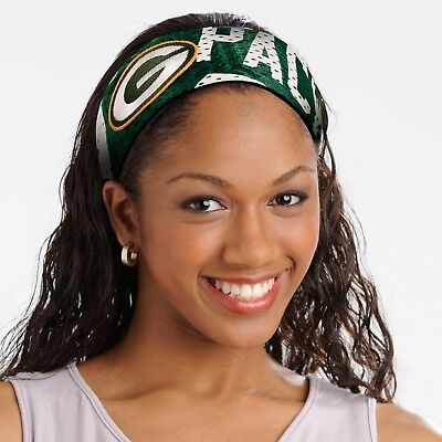 Green Bay Packers Jersey Fanband HEADBAND NFL Women Ladies Team Apparel