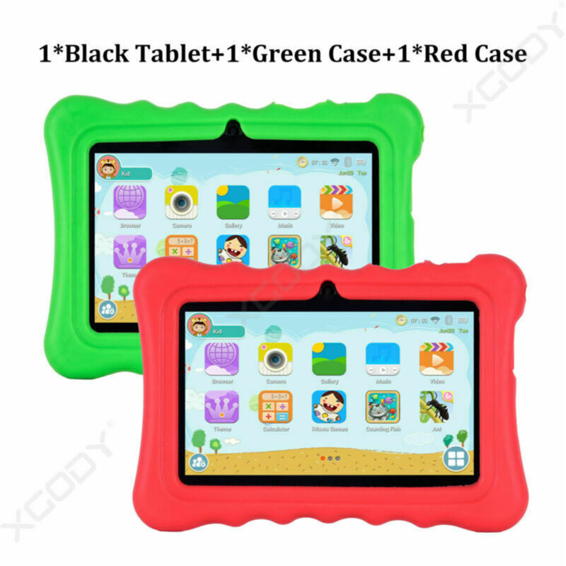 Tablet + Green Case +  Red Case