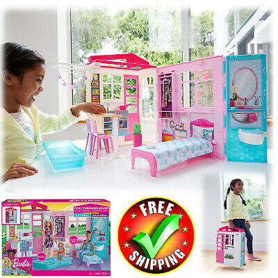 Barbie House Story Dream Furniture Accessories Dollhouse Girls Fun Play Barbie Dream House Accessories