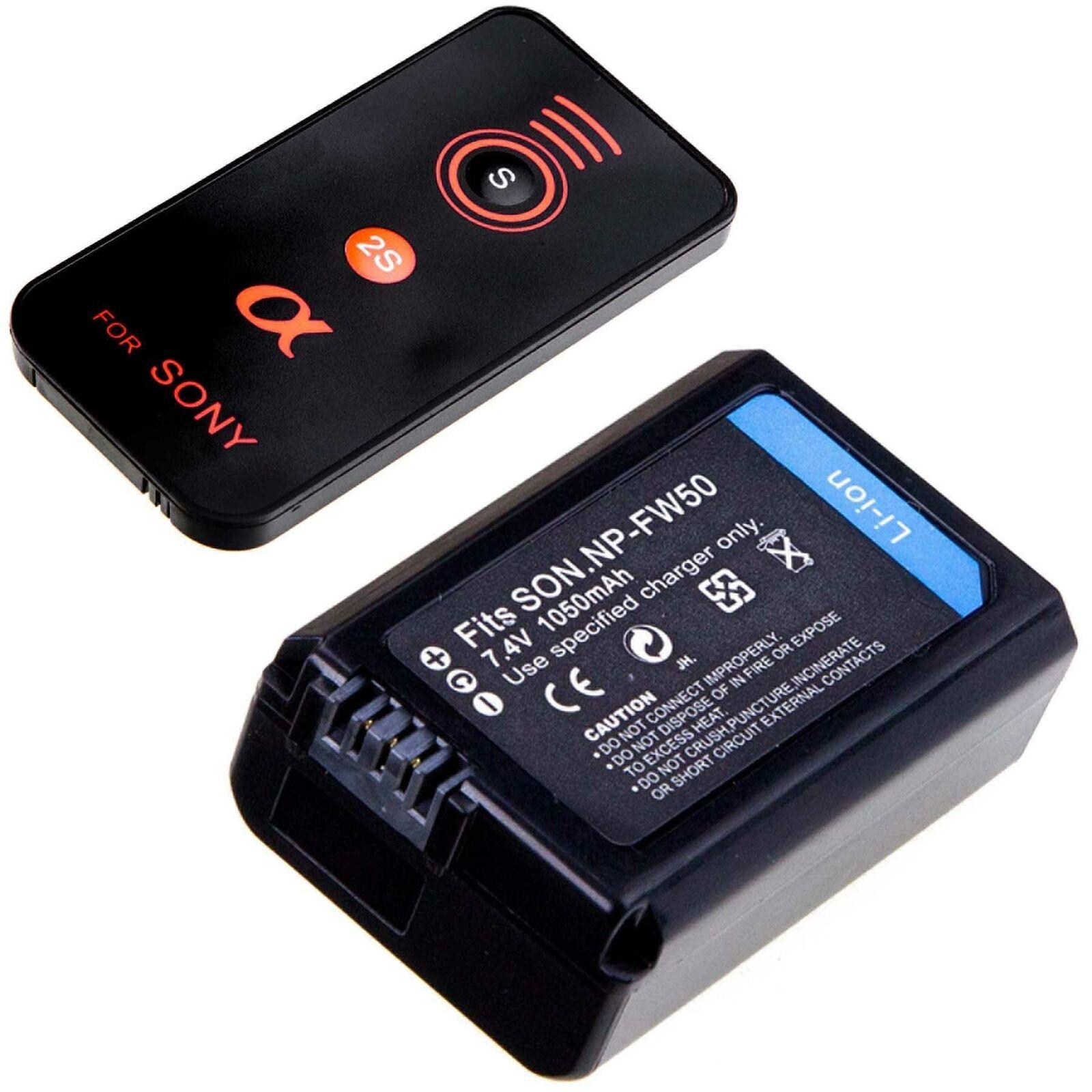 Sony Alpha 6000 6300 6500 Zubehör SET mit 2 Ersatzakkus