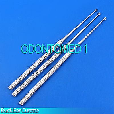 3 Buck Ear Curette Str Size 1 23 Surgical Vet Instruments