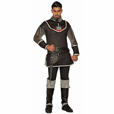 Men's Prince Royal Medieval Knight Costume Tunic Chainmail Shirt Thrones - Chainmail Knight Costume