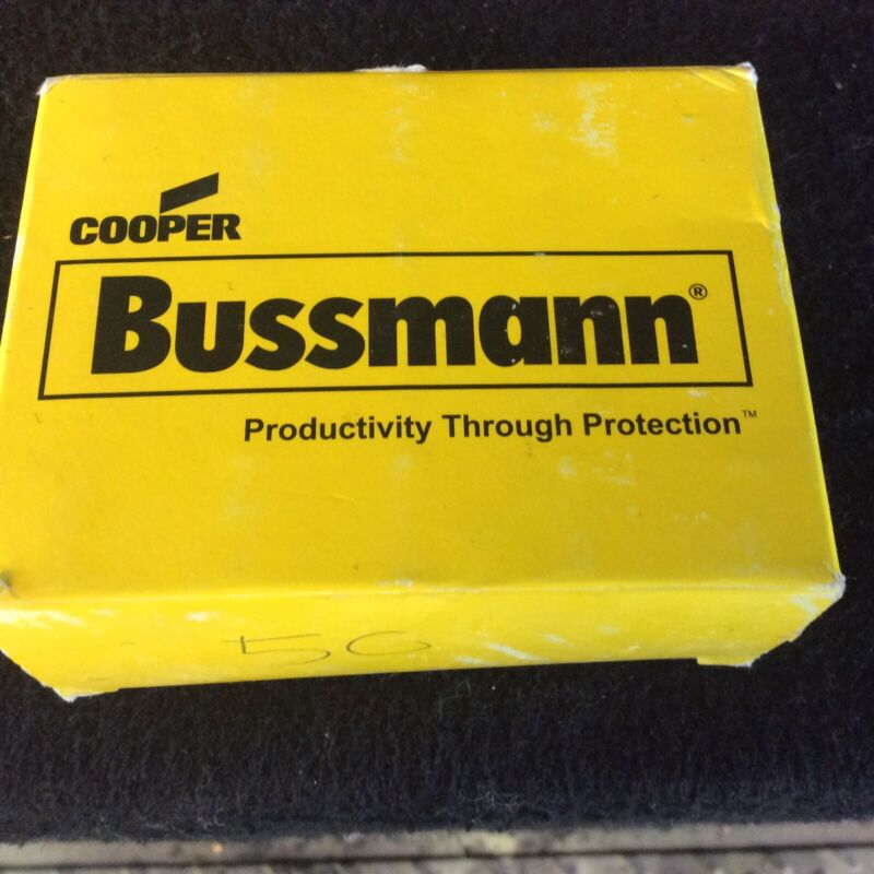 Bussmann FRN-R-50 Class RK5 Fuses Box Of 10 New Old Stock