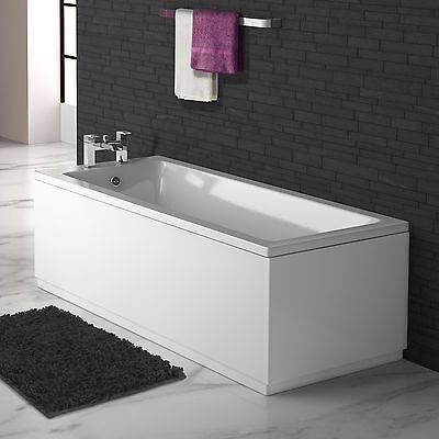 VeeBath Linx Wooden MDF Bathroom High Gloss White Bath Panel Set 1700 and 700mm