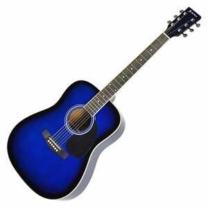 Sanchez PACK Full Size Blueburst Steel String guitar