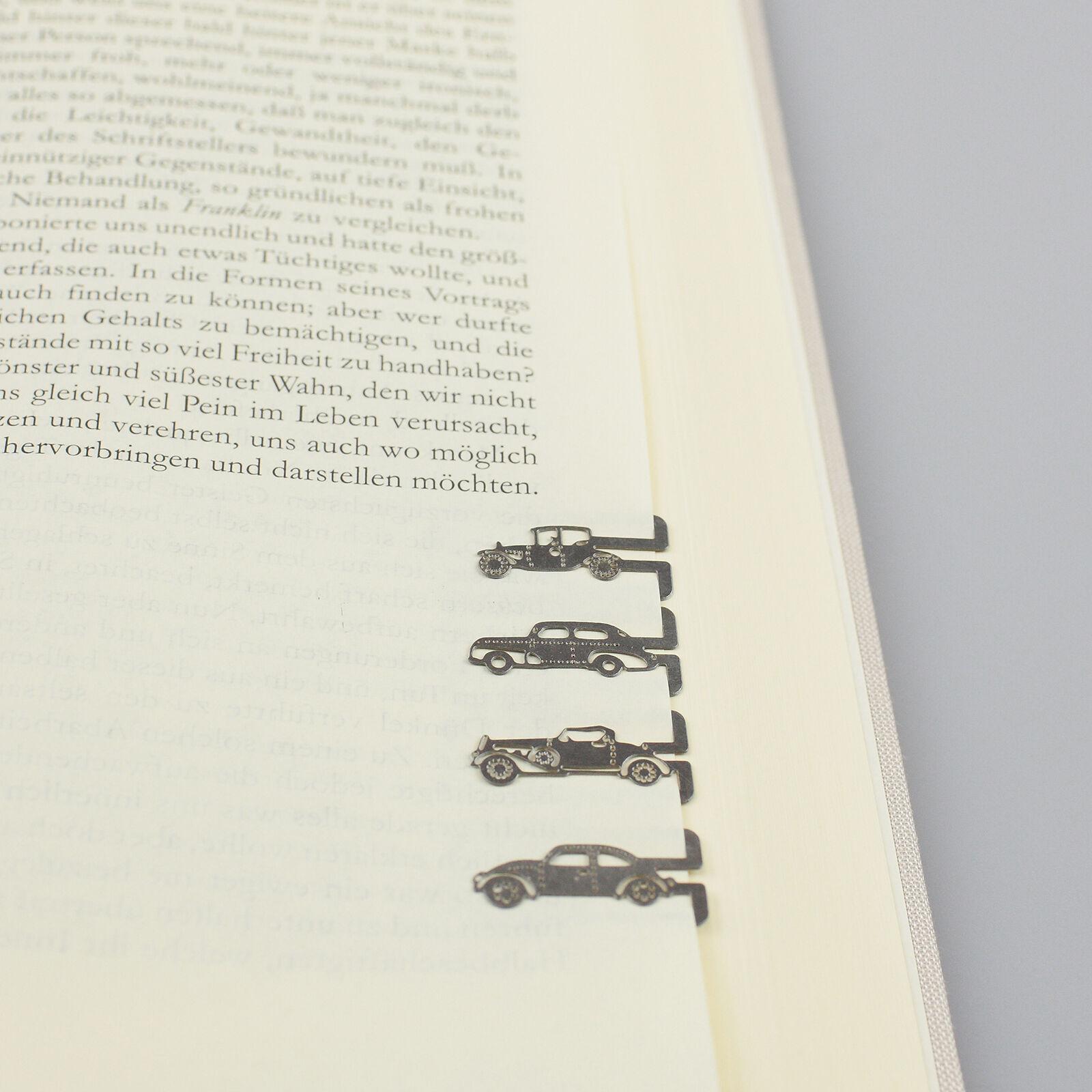 20 Stück Lesezeichen Metall Buchzeichen Buchklammer Geschenkverpackung - Auto