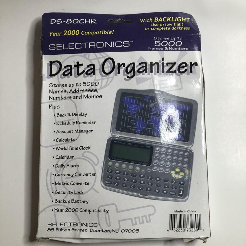 Selectronics DS-80CHR Data Organizer New