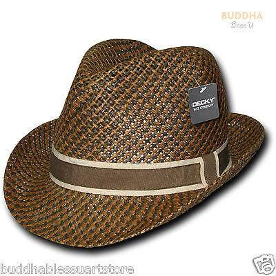 t Braun Zweifarbig Hutband Fedora Fedoras Trilby Hüte (Fedoras Hüte)