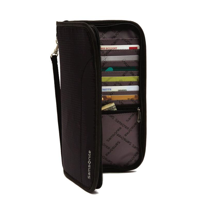 Samsonite RFID Zip Close Travel Wallet Black - Luggage