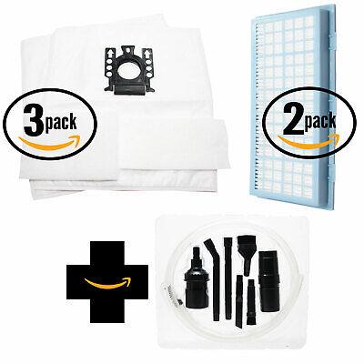 6 Vacuum Bags, 6 Micro & 2 HEPA Filters for Miele Titan, S2 w/ Micro Kit