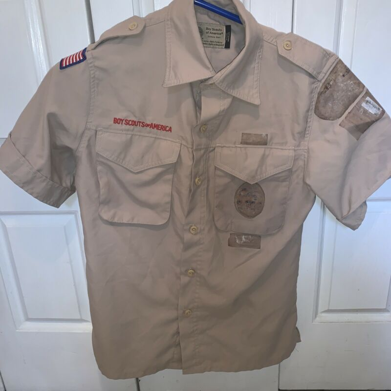 Vented Microfiber Poly Boy Scout BSA UNIFORM SHIRT Youth Medium New Style K68