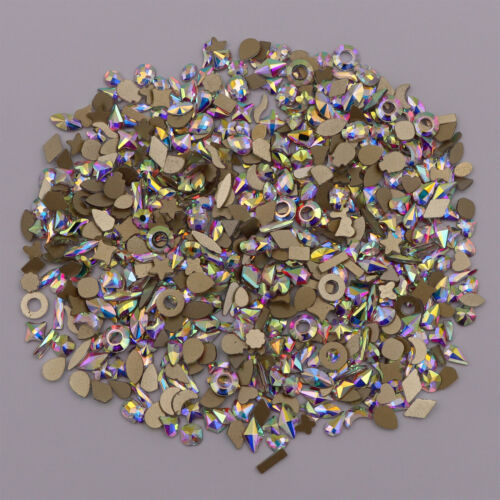 Nail Art Glass Rhinestones Glitter Diamond Crystal Gem 3d Tips Diy Decoration