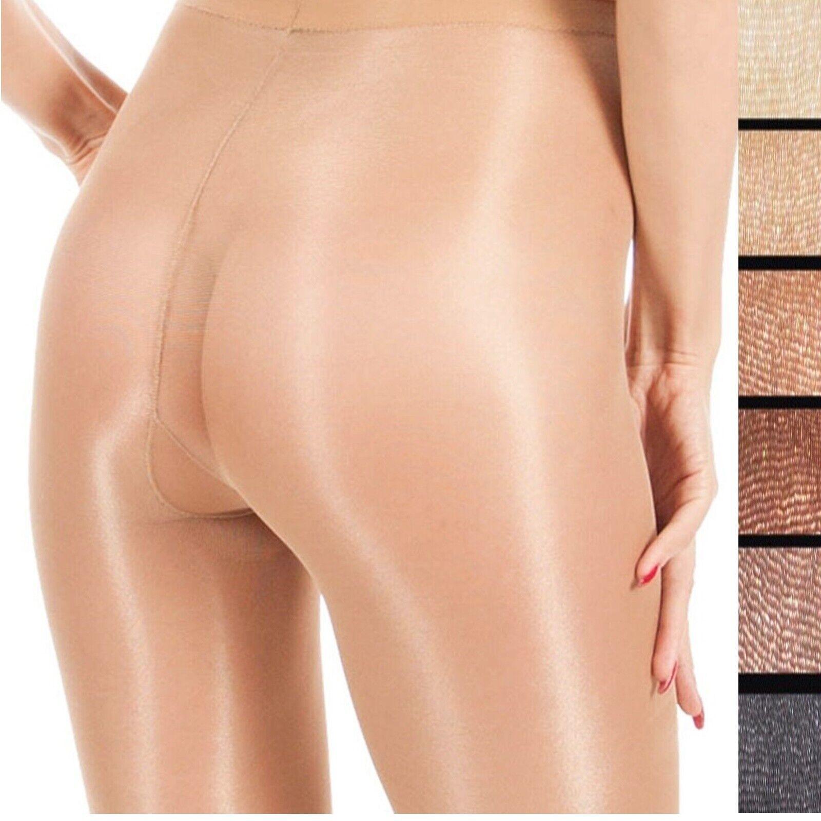Nudo Glossy Glanz Satin-Strumpfhose 20 den glänzend Farben T-Band transparent