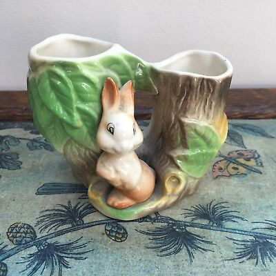 Vintage Eastgate Fauna Double Vase - Rabbit - 8.5cm