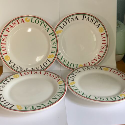 4- Lotsa Pasta Plates Made in Portugal 8.5""