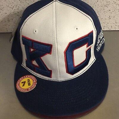 efc245c10a4 Negro League Baseball Cap KC Bullet Joe Rogan Museum Size 7 3 8 Fitted Wool  NWT