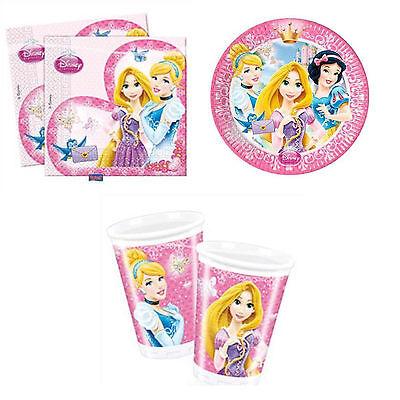Party Geschirr Disney Princess Geburtstag Rapunzel Cinderella Schneewittchen