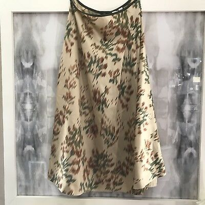 DKNY Pure Donna Karan Silk Skirt Size 8 Blurry Beige Pattern