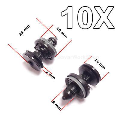 10X Interior Door Card, Trim Panel Retaining Clips for Ford Focus, C-Max 1/2 Round Door Mat