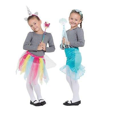 Kinder Märchen Tiere Einhorn oder Meerjungfrau Tutu Sets mit Stäbe - Meer Tier Kostüm Kinder