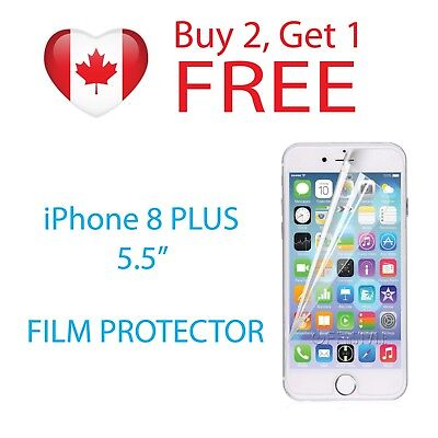 "Clear Protective Film Screen Protector for Apple iPhone 8 PLUS 5.5"" PET Film"