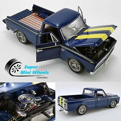 ACME 1:18 - 1967 Chevrolet C-10 Shop Truck (blue with yellow stripes)