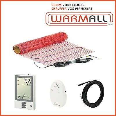 Warm All Electric Tile Floor Heating Mat Radiant Mesh 120V 25 Sq/Ft.
