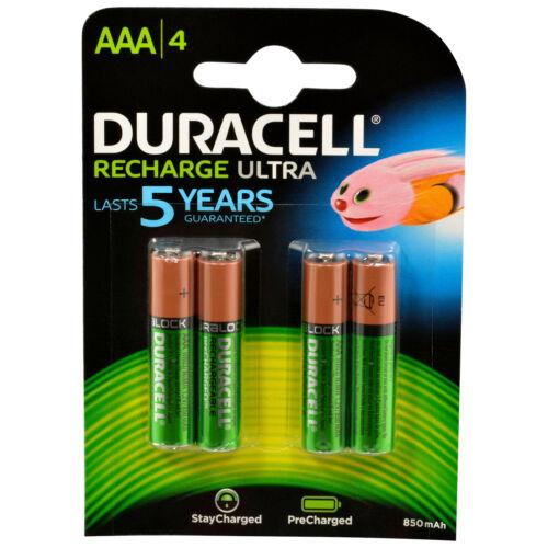 4x Duracell Recharge Ultra Akku AAA HR03 Precharged 4 Stück