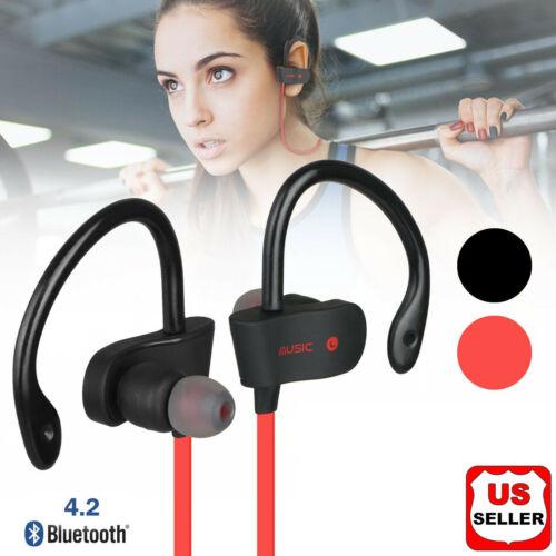 Sweatproof Headphones Wireless Bluetooth Sport Earphones Stereo Headset Earbuds Cell Phone Accessories