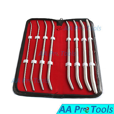 Aa Pro 11.5 Urethral Pratt Sounds 8pcs Set Surgical Gyne Instruments