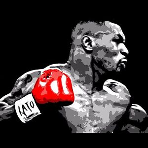 Mike Tyson poster wall decoration photo print 24x24 inches