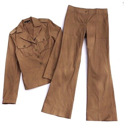 Theory Utility Jacket Career Stretchy Blazer Pant Suit Womens 10