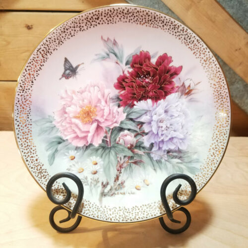 Peony Prelude Symphony of Shimmering Beauty Collectable Plate  Swanky Barn