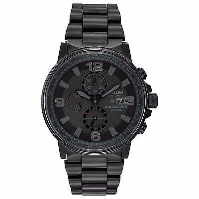 Citizen Eco Drive Mens Ca0295 58E Nighthawk Chronograph Black 43Mm Watch