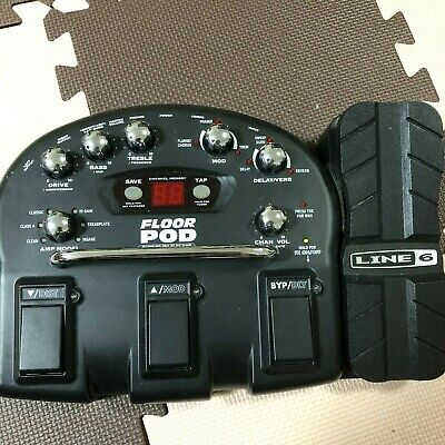 USED LINE 6 FLOOR POD ELECTRIC GUITAR MULTI EFFECT PEDAL AMP CABINET MODEL