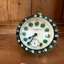 Unusual Antique A Stowell & Co Table Clock