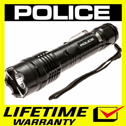 POLICE Stun Gun 1158 550 BV Metal Rechargeable LED Flashlight
